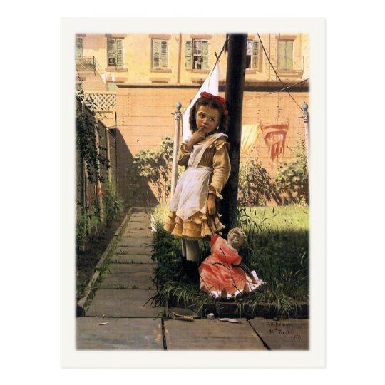 John George Brown Postcard Painting