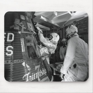 John Glenn Entering Friendship 7 Spacecraft Mouse Pad