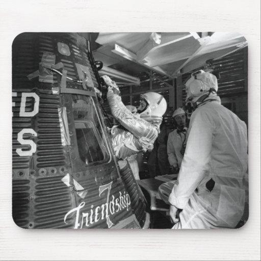 John Glenn Entering Friendship 7 Spacecraft Mouse Pads