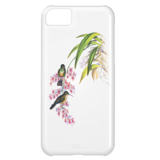 John Gould s Pink Orchids and Hummingbirds iPhone 5C Case