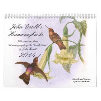 John Gould's Hummingbirds 2014 Calendars