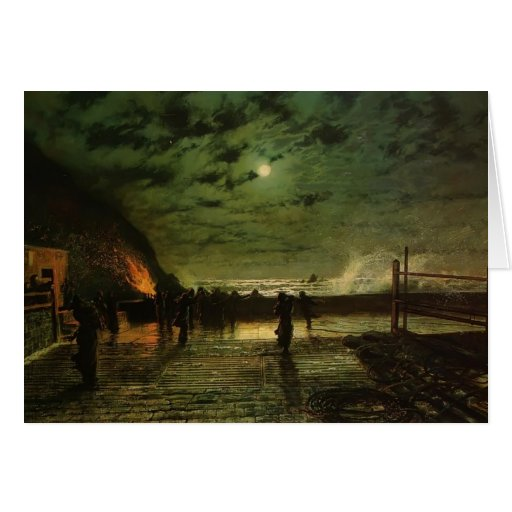 John Grimshaw- In Peril (The Harbour Flare) Card