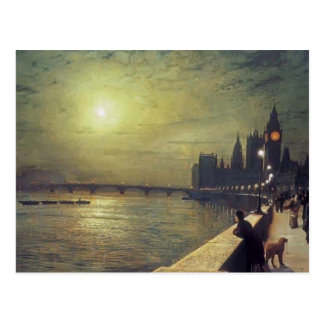 John Grimshaw- Reflections on the Thames Postcard