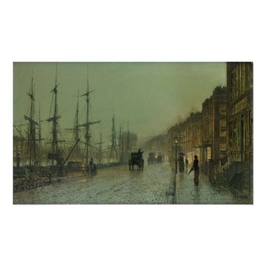 John Grimshaw - Shipping on the Clyde, 1881