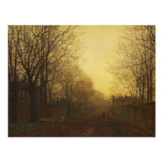 John Grimshaw- Wimbledon Park, Autumn After Glow Postcard