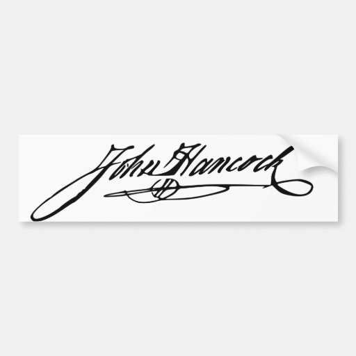 John Hancock Signature Bumper Sticker