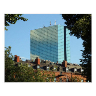 John Hancock Tower Back Bay Boston Skyline Poster