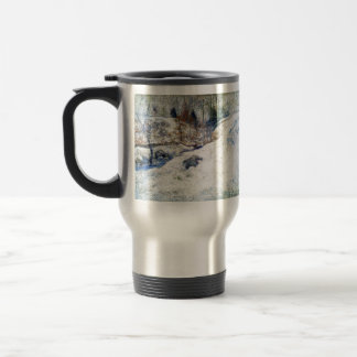 John Henry Twachtman- Brook in Winter Coffee Mug