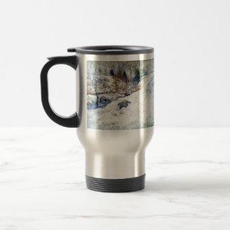 John Henry Twachtman- Brook in Winter Travel Mug