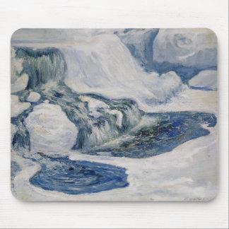 John Henry Twachtman- Falls in January Mousepad