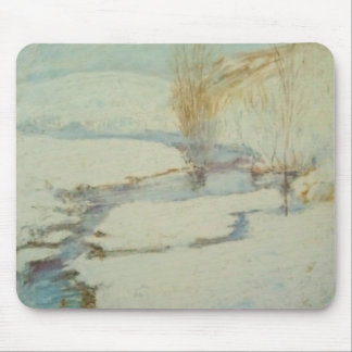 John Henry Twachtman- Winter Landscape Mousepad