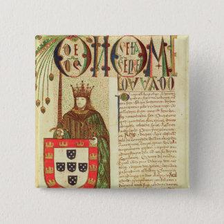 John II  King of Portugal 15 Cm Square Badge