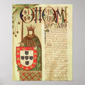 John II  King of Portugal Poster