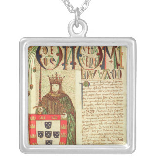 John II  King of Portugal Silver Plated Necklace