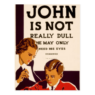 John is not really dull postcard
