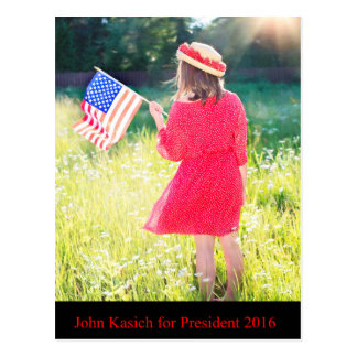 John Kasich for President 2016 Postcard