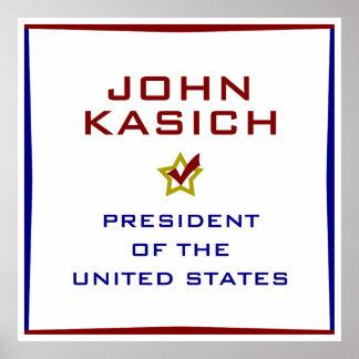 John Kasich for President USA Poster