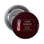 John Kasich for President V3 6 Cm Round Badge