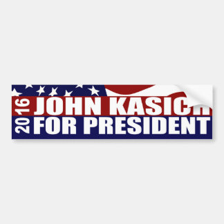 John Kasich President 2016 Bumper Sticker