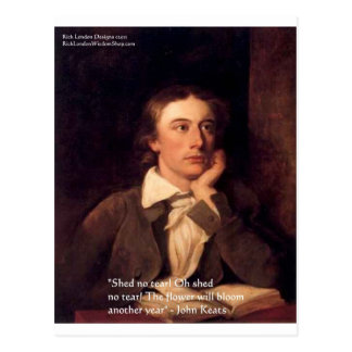 "John Keats ""Blossom"" Quote Gifts Tees & Cards Postcard"