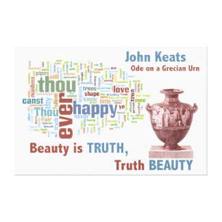 John Keats Ode on a Grecian Urn Poetry Word Cloud Stretched Canvas Prints