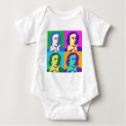 John Keats Pop Art Baby Bodysuit