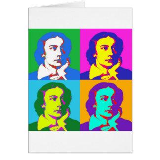 John Keats Pop Art Card