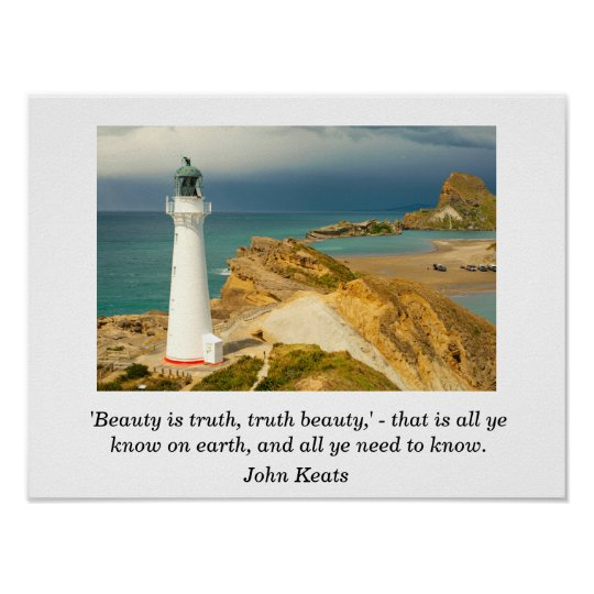 John Keats quote - art print