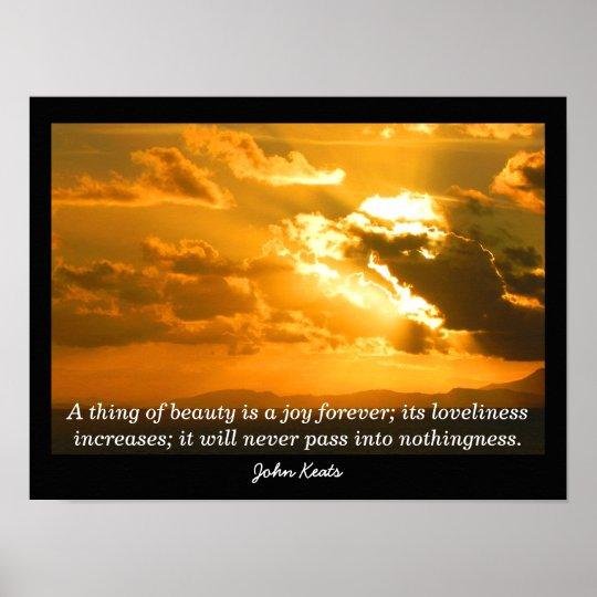 John Keats Quote - Art Print Poster