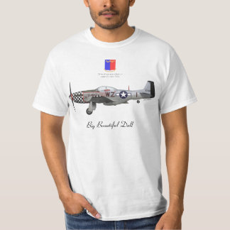 "John Lander' S P-51 ""Big Beautiful Fraud "" T-Shirt"