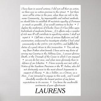 John Laurens Quotations Poster