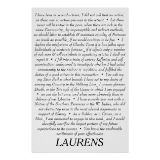 John Laurens Quotations Poster