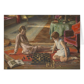 John Lavery: The Chess Players Greeting Card