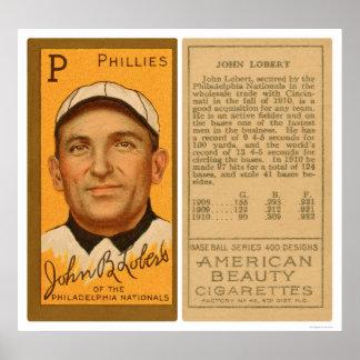 John Lobert Phillies Baseball 1911 Poster
