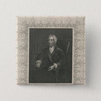 John Locke 15 Cm Square Badge