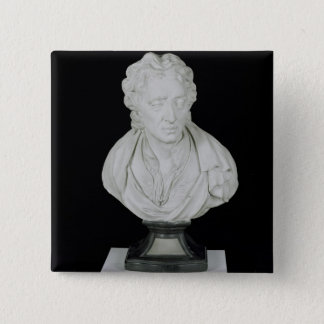 John Locke (1632-1704) (plaster) 15 Cm Square Badge