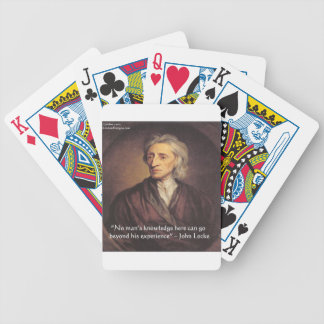 John Locke Knowledge/Experience Quote Bicycle Playing Cards