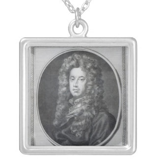 John, Lord Somers, engraved by John Golder, 1785 Silver Plated Necklace