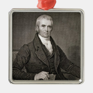 John Marshall (1755-1835), engraved by Asher Brown Christmas Ornament