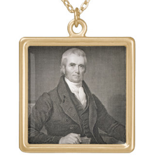 John Marshall (1755-1835), engraved by Asher Brown Gold Plated Necklace