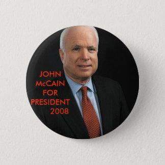 JOHN McCain 6 Cm Round Badge