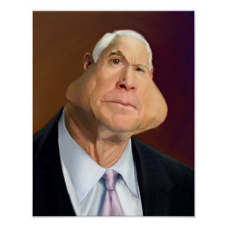 John McCain Caricature Poster