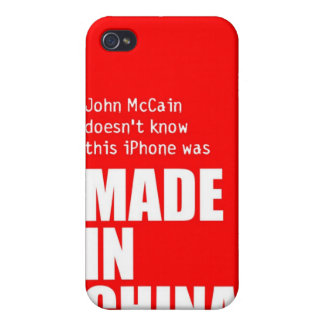 John McCain Doesn t Know iPhone Made in China Case For iPhone 4