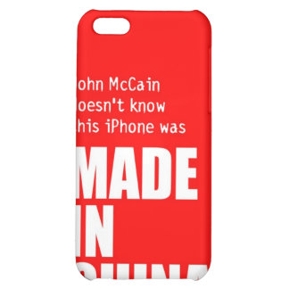 John McCain Doesn t Know iPhone Made in China Case For iPhone 5C