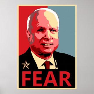 John McCain - Fear Print