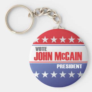 John McCain For President Basic Round Button Key Ring