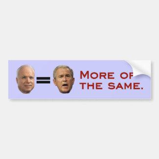 John McCain George W Bush Bumper Sticker