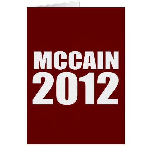 JOHN MCCAIN IN 2012 CARD