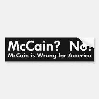 John McCain No Bumper Sticker
