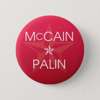 John McCain * Sarah Palin 2008 6 Cm Round Badge